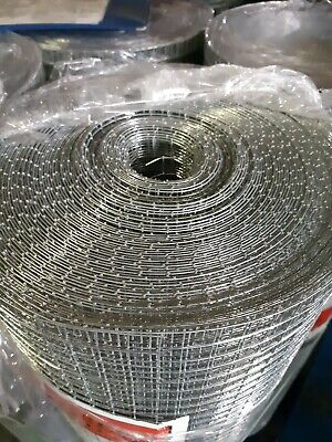 Welded Wire Mesh 36 X 1/2 X 1 Or 36 X 1/2 X 1/2 In Either 6 Or 30mtr Rolls - 20g • 48.99£