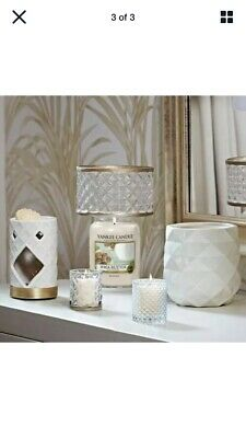 Rare Boxed NEW Yankee Candle LANGHAM Glass Shade & Plate Set • 39.99£