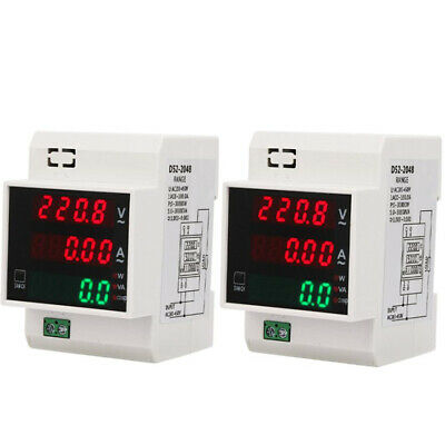 AU18.79 • Buy Digital Energy Meter Din Rail LED Active Power Factor Multi-Functional Powe K2Z5