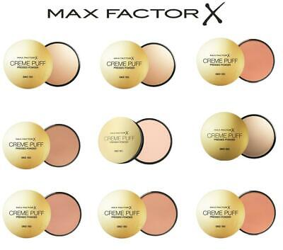 MAX FACTOR Creme Puff Compact Pressed Face Powder 21g *CHOOSE YOUR SHADE* • 5.89£