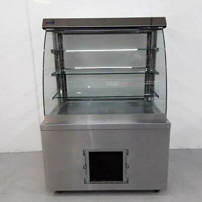 Commercial Display Fridge Chiller Glass Serve Over Victor RMR100E • 1,020£