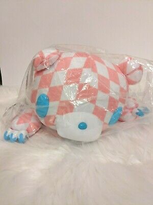 UK SELLER Chax GP Gloomy Bear Pink Harlequin BIG Plush 45cm Japan With Tags NEW • 38£