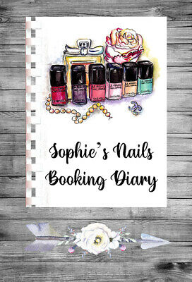 £9.75 • Buy Personalised A4 Appointment Book/Diary - Beauty - Nails - Makeup - BP3