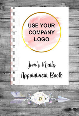 £9.75 • Buy Personalised A4 Appointment Book/Diary - ADD YOUR LOGO - BP12