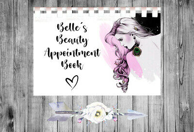 £9.75 • Buy Personalised A4 Appointment Book/Diary - Beauty - Makeup - Stylist - BP21