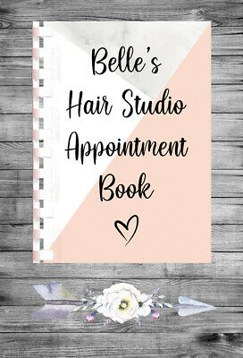 £9.75 • Buy Personalised A4 Appointment Book/Diary - Hair - Beauty - Stylist - BP26