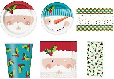£2.99 • Buy Snowflake Christmas Festive Party Tableware Paper Plates Napkins Cups Xmas Party