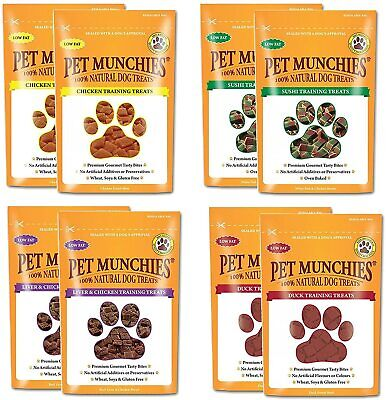 £13.99 • Buy Pet Munchies Natural Training Treats Dog Puppy Sushi Chicken Liver Duck Box Of 8