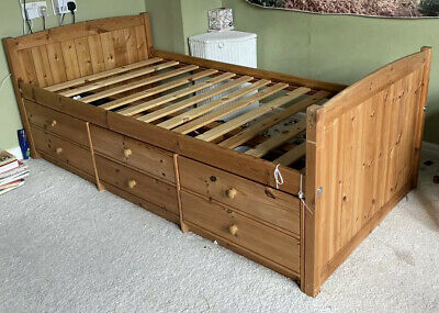 Solid Pine Cabin Bed With Drawers • 15£