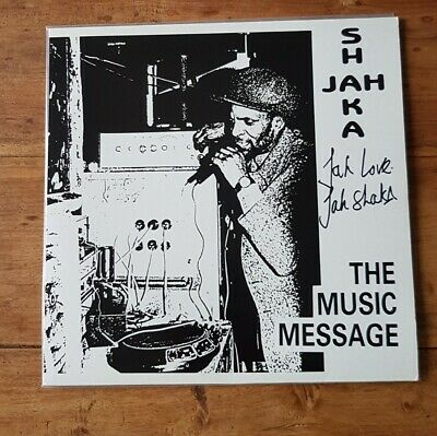 JAH SHAKA The Music Message LP SIGNED By Jah Shaka! NM Condition Dub Reggae RARE • 149.99£