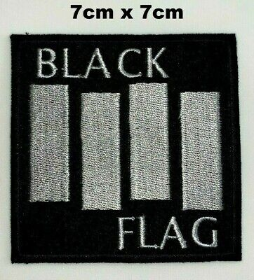 £1.99 • Buy Black Flag Hard Punk Rock Music Iron Sew On Embroidered Patch Jacket Jeans