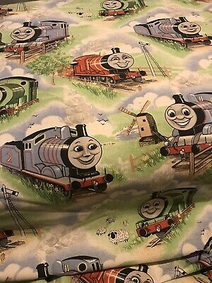 Vintage Thomas The Tank Engine Lined Curtains / Fabric 44'' W 70'' D  • 19.99£