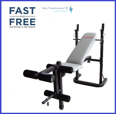 York B500 Adjustable 3 Position Flat Incline Barbell Dumbbell Weight Bench • 179.99£