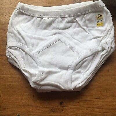 2 Pairs Mens Y Fronts L White • 3£
