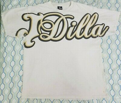£141.96 • Buy VTG Stussy J Dilla All Over Print T Shirt Rap Tee Hip Hop Spellout DJ Large