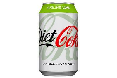 Diet Coke Sublime Lime 8 X 330ml - FREE TRACKED DELIVERY • 14.99£