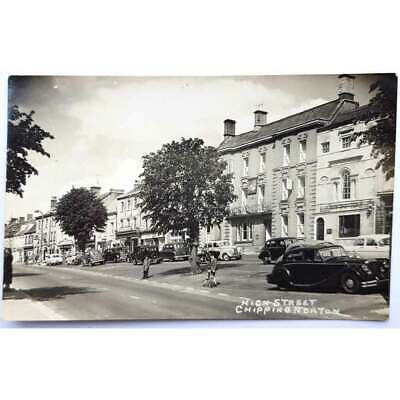 £5.95 • Buy CHIPPING NORTON High Street Showing Old Cars, RP Postcard Unused