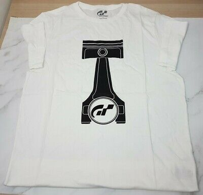 Genuine PlayStation Gran Turismo T-Shirt GT T-Shirt Bright White Size  Small • 4.99£