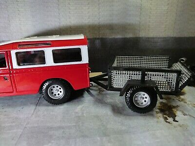 1/24 Car Trailer With Wheels For Diorama Or Model Kits Not Painted • 10£