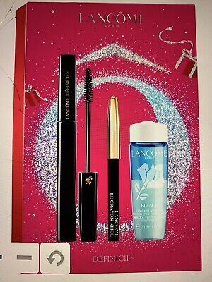 Lancome Definicils Mascara,eye Pencil & Bi-facil Remover Christmas 2020 Gift Set • 28£