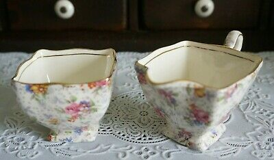 $ CDN29.12 • Buy VINTAGE Royal Winton Grimwades Floral Chintz Creamer And Sugar Bowl 325, England