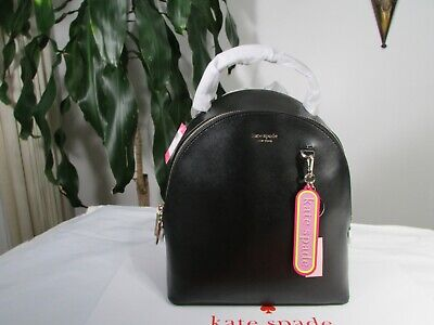 $ CDN199.26 • Buy NWT Kate Spade Leather Sloan Medium Black Backpack & Kate Spade Key Fob