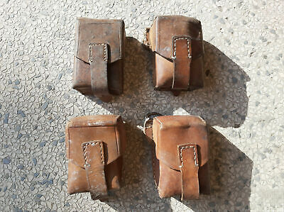 Ammo Pouch Military Yugoslavia JNA Army Belt Leather Bag - 4 Pieces • 15.15£