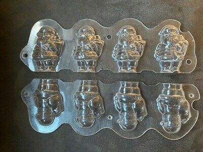 £38 • Buy Hard Plastic Moulds (2)  Make Chocolate  Father Christmas Figures Front And Back