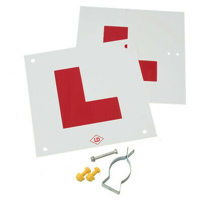 £7.99 • Buy Motorcycle L Plate Kit Complete With Fixings And Bracket / Made In UK