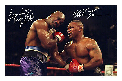 £5.99 • Buy Mike Tyson & Evander Holyfield Signed Photo Print Poster Autograph Boxing