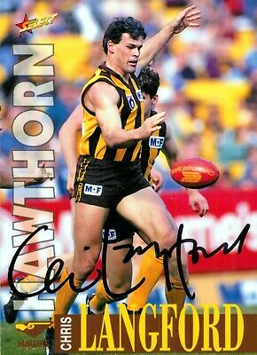 AU24.99 • Buy ✺Signed✺ 1996 HAWTHORN HAWKS AFL Card CHRIS LANGFORD Centenary