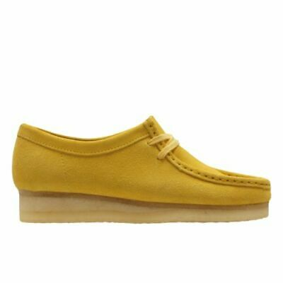 £74.99 • Buy Clarks Originals Ladies Yellow Wallabee Suede Leather Casual Crepe Sole Shoes