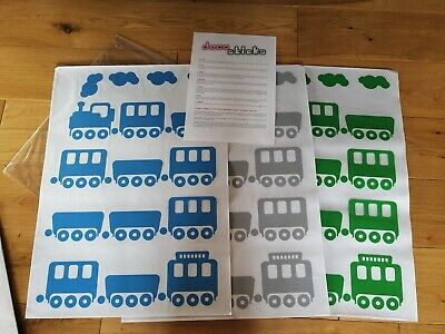 Train Vinyl Wall Decals Stickers Nursery Children Room - Large • 11.50£