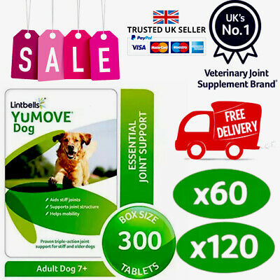 Lintbells YuMOVE Dog Mobility Health Supplement Aid For Stiff Old Dogs Various • 20.49£
