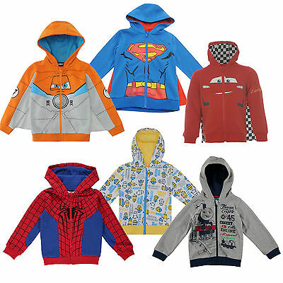 Disney Cars Spiderman Minions Planes Jacket Hoody Children 86-152 • 16.90£