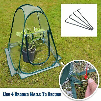 Mini Tent Pop Up Greenhouse Transparent PVC Foldable Flowerpot Cover DURABLE NEW • 18.47£