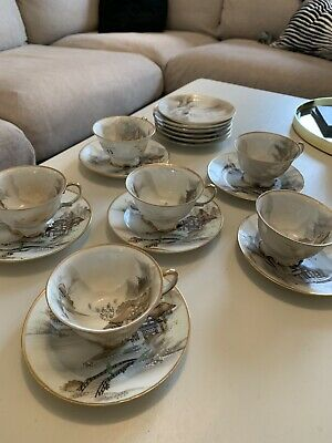 Vintage Noritake Gilt And White Tea Set 18 Pieces • 58£