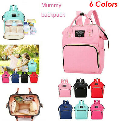 Multi-use Large Mummy Baby Diaper Nappy Backpack Mom Changing Travel Bag V • 9.86£