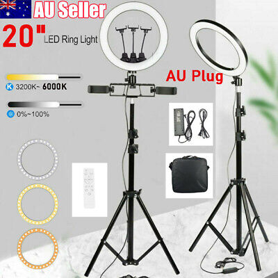 AU24.99 • Buy 20  LED Ring Light Dimmable Lighting Kit Phone Selfie Tripod Stand Youtube Live