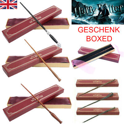 Harry Potter Magic Wand Hermione Dumbledore Voldemort Metal Wand Toy Gift Box UK • 10.99£
