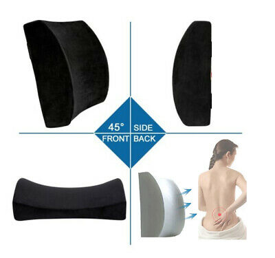 £8.99 • Buy Memory Foam Back Support Seat Cushion Office Home Car Chair Waist Pillow
