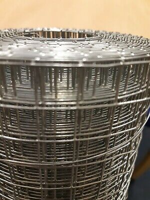 Galvanised Welded Wire Mesh Fencing 36  X 1/2  X 1/2  X 16g X 6mtr - CWM • 42.50£