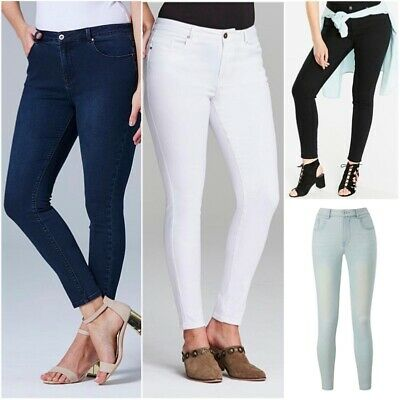 Simply Be Womens Ladies Chloe Soft Stretch Skinny Fit Mid Rise Jeans Size 12-32 • 13.99£