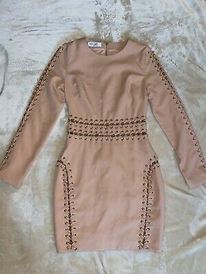 Womens Celeb Boutique Dress, Size Small, Nude With Chain Detail • 24£