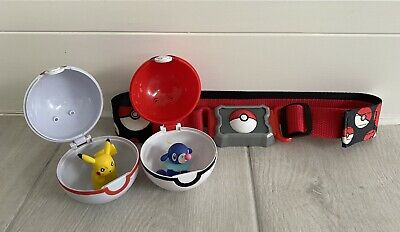 Pokemon Clip N Go Belt With Two Clip N Go Balls & Figures • 10£
