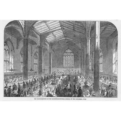 £9.95 • Buy YORK Dinner For Royal Agricultural Society In The Guildhall - Antique Print 1848