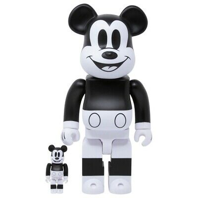 $289 • Buy Medicom 400% + 100% Bearbrick ~ Mickey Mouse 2020 Black & White Be@rbrick
