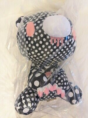 UK SELLER Chax GP Gloomy Bear Plush Crazy Dots Black 30cm Toreba Japan NEW • 31£