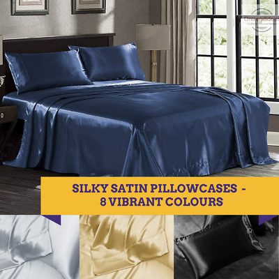 AU55 • Buy Ramesses Casablanca Ultra Soft Silky Satin Sheet Set | Light Cooling Sheets