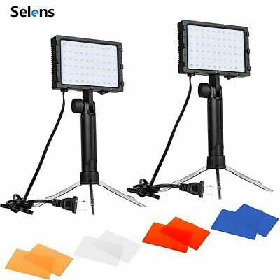 2PC LED Portable Photography Studio Lighting Kit W/ Color Filters F Photo Video • 30.99£